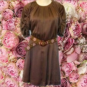 See by CHLOE Brown Silk Mini Dress Size 4